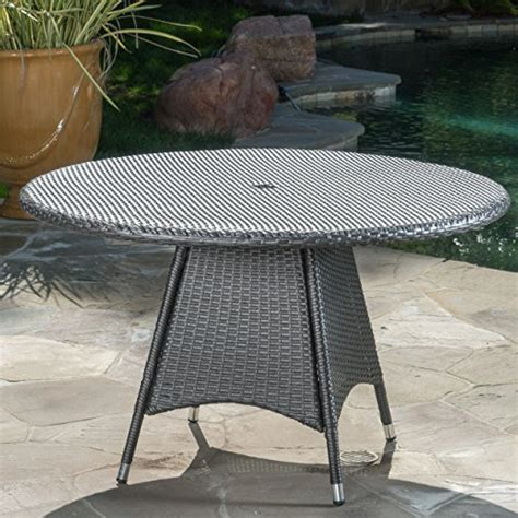 grey wicker outdoor table colonial outdoor grey wicker dining table tables