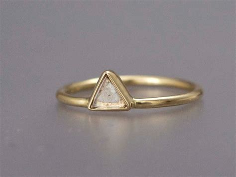 triangle engagement ring by