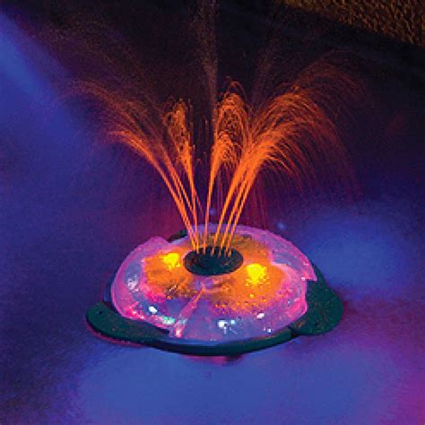 pool fountain with lights underwater light show fountain for in ground above