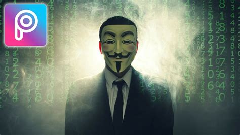 picsart ios tutorial cara edit anonymous hacker di picsart android dan ios