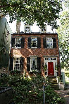 brick house with kelly moore red door benjamin moore iron mountain 2134 30 exteriors