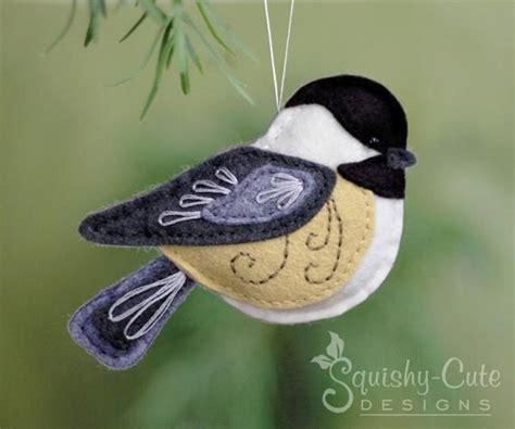 pattern felt bird felt chickadee bird ornament craftsy