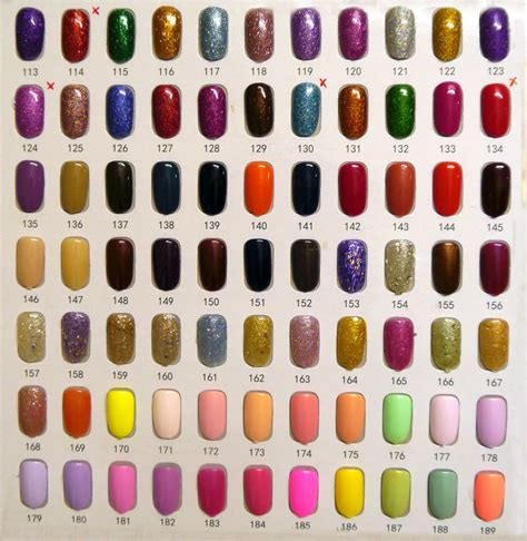 nail colors collection colours maddisons unique gel
