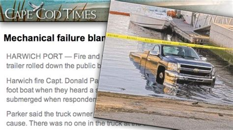 hibious rv truck sinks at boat r truck sinks at cape cod boat r