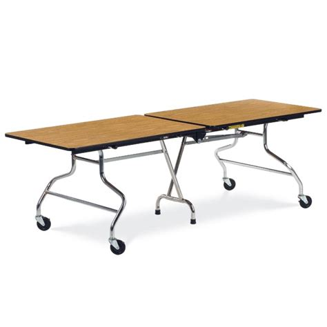 virco mt3096 mobile folding shape cafeteria table 8