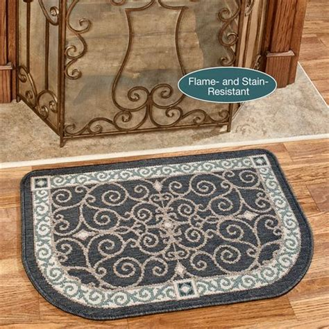 hearth rugs resistant eastly stain resistant charcoal hearth rug