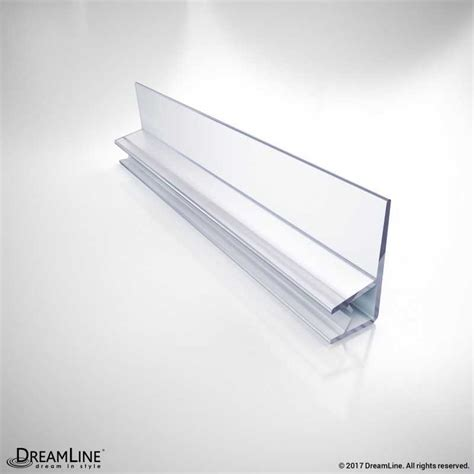 Clear Vinyl Door Seal 76 Quot Length 304b 10 For 10 Mm Plastic Shower Door Seal