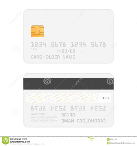 credit card skin template realistic vector credit cards mockup stock vector image
