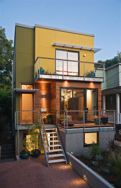 narrow home design portland green home building pics from portland seattle se