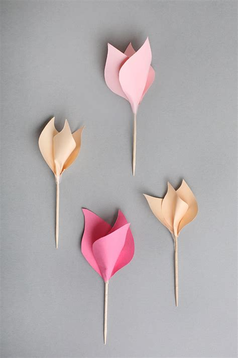 Paper Tulips - diy paper tulips fancy deco