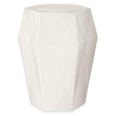 ceramic accent table geometric ceramic accent table williams sonoma