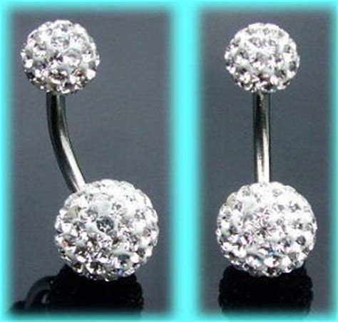 top and bottom belly bars belly bars disco ball belly bars