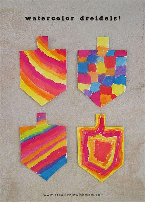 menorah crafts for watercolor dreidel craft hanukkah really beautiful from