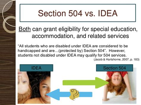 section 504 vs idea section 504 presentation final