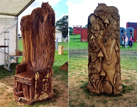 Amazing Wood Sculptures Created by Chainsaw ? Design Swan