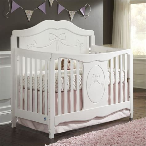 convertible white crib stork craft princess fixed side convertible white crib ebay