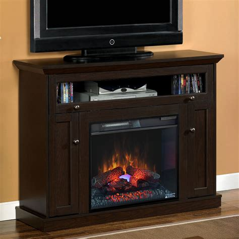 Electric Fireplace And Media Mantel by 23 Quot Oak Espresso Media Console Electric Fireplace