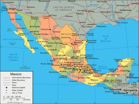 physical map of mexico iamsgeo25 key elements