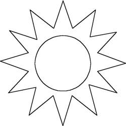 sun template outline clipart best