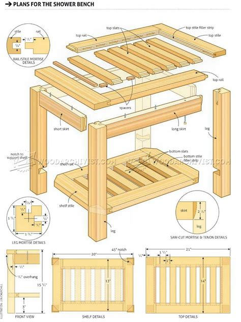 wooden shower bench plans shower bench plans woodarchivist