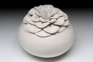 Lotus Pottery Vase Ceramic Pottery Porcelain White Lotus Flower