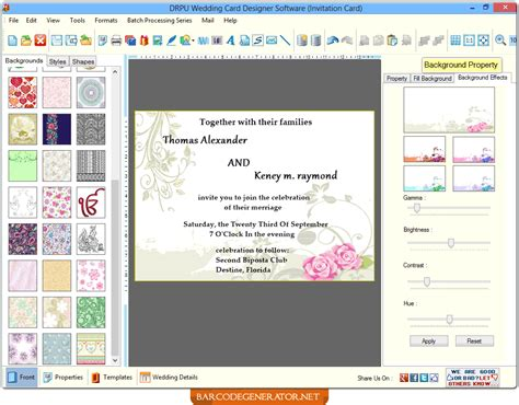 free invitation design software for mac new wedding invitation card design software wedding