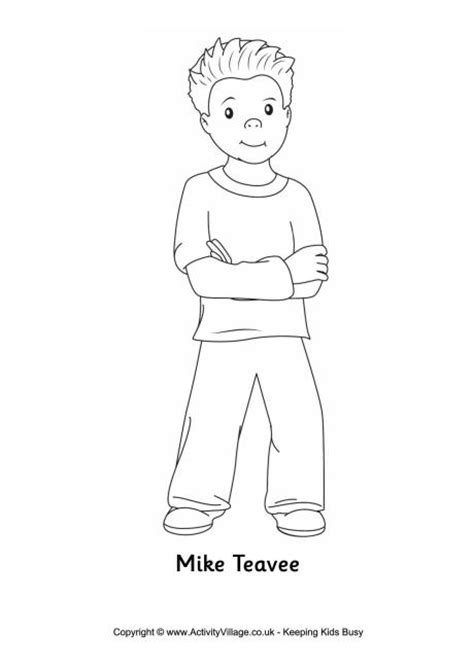 mike teavee colouring page