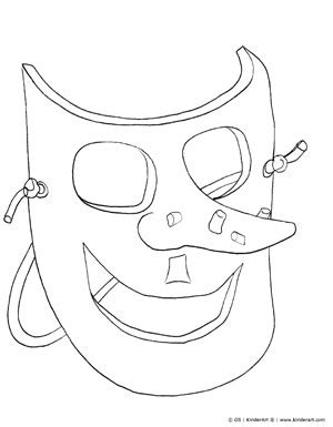 printable witch mask template witch mask coloring page kinderart