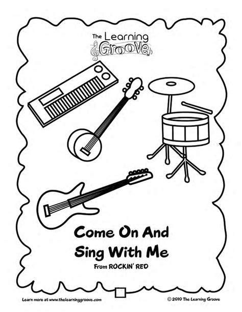 preschool coloring pages cing come on and sing with me this would be a great song to