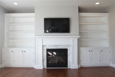 smlf how build custom white shaker style cabinets fireplace surround marble facing how to build a built in part 1 of 3 the cabinets