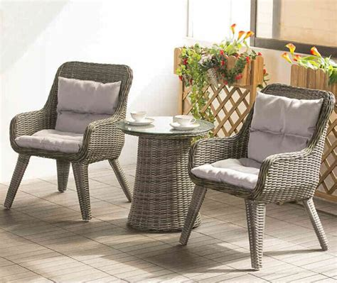 factory direct sale wicker patio furniture lounge chair chat set small outdoor table  chairs