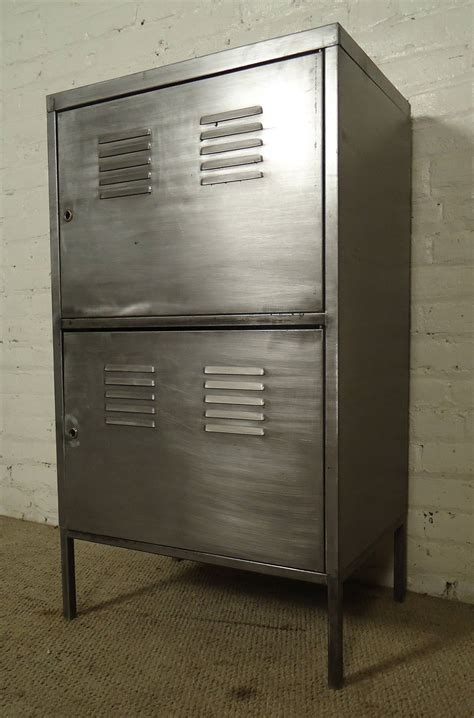 Industrial Storage Cabinets With Doors Industrial Metal Two Door Cabinet For Sale At 1stdibs