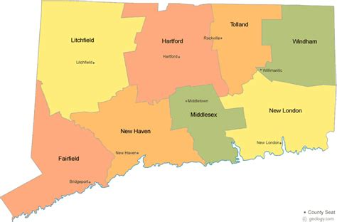 us map connecticut connecticut county map