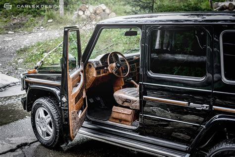 jeep mercedes interior mercedes g class interior given a retro look