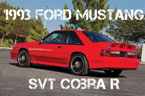 Cobra R Auto by 1993 Ford Mustang Autos Post