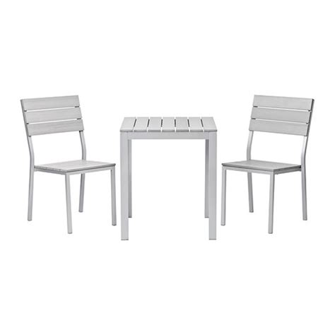 Outdoor Bistro Table And Chairs Ikea Falster Table 2 Chairs Outdoor Gray Ikea