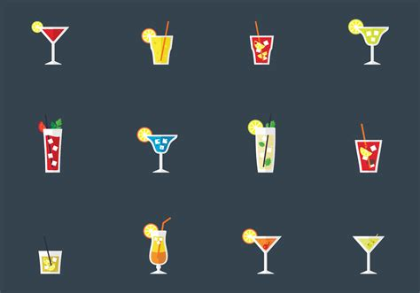 alcohol vector alcohol drinks and cocktails download free vector art