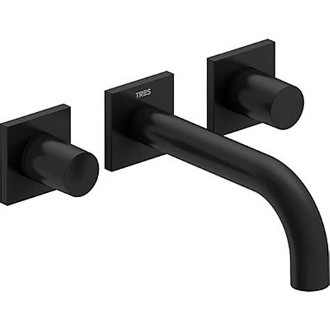 grifo negro lavabo grifo de pared lavabo negro de 3 centros project tres