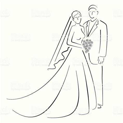 Bride And Groom stock vector art 158709166   iStock