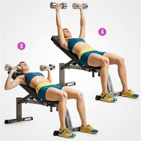 incline bench press exercise incline dumbbell press get strong with these upper body