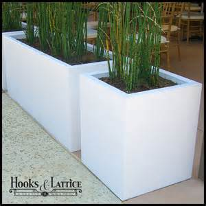 planters composite chic planter box white