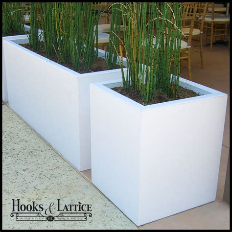Composite Planter Boxes by Planters Composite Chic Planter Box White