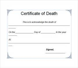sample death certificate template 7 download documents