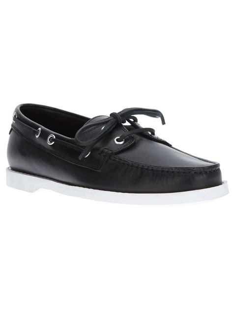 laurent deck shoe in black for lyst