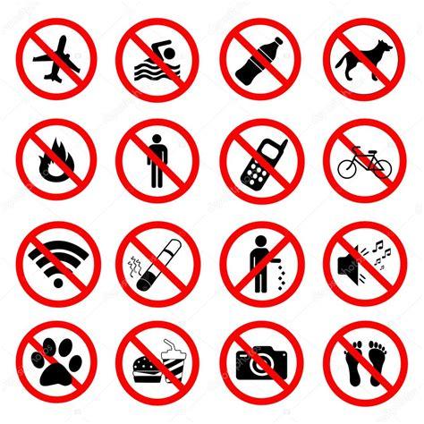 imagenes de simbolos foneticos set iconos de prohibici 243 n se 241 ales de s 237 mbolos rojos
