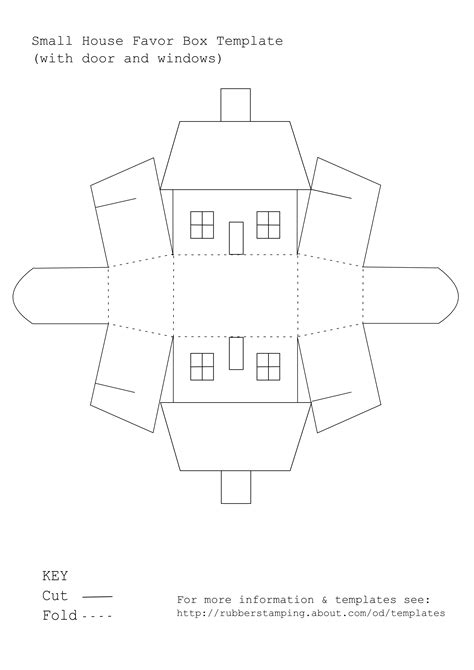 free templates for small boxes use this free printable template to make a small house