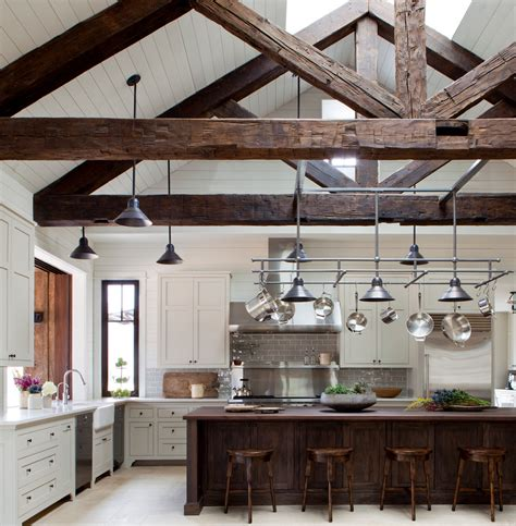 interior beams in houses post and beam construction kitchen farmhouse with large kitchen island exposed beams