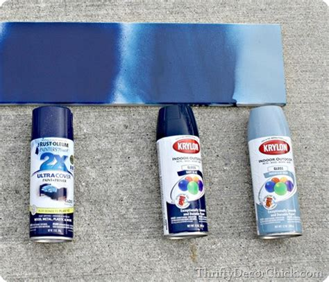 Spray Paint Blues From Thrifty Decor Chick