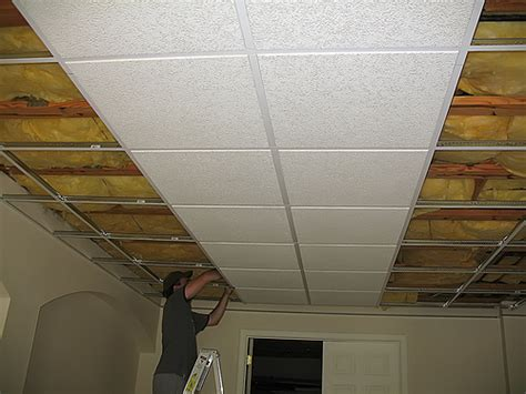 Low Clearance Drop Ceiling by Basement Ceilings Recommended Types