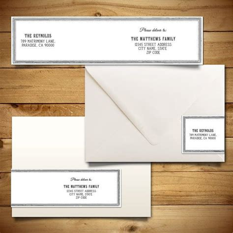 wedding address label template printable wrap around address label template for a7